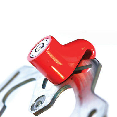 SXP Red Star Locks NEW Red Black Dirt Bike Motorcycle Motorbike Mini Disc Lock