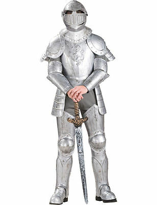 Adult Mens Knight in Shining Armour Medieval Suit of Armour Fancy Dress Costume