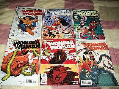 WONDER WOMAN #0, 1-26 1st PRINTING AZZARELLO CHIANG NEW 52 DC COMICS X6