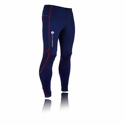 Higher State Mens Blue Running Training Long Tights Sports Bottoms Pants