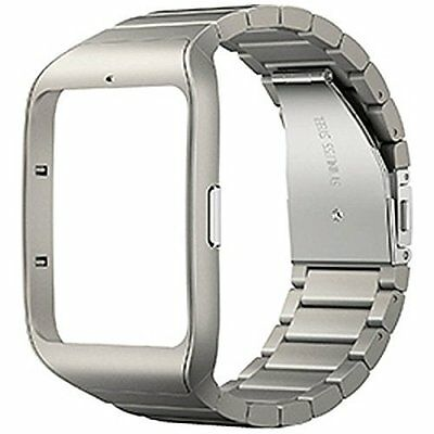 Sony SWR510M-S Metal Silver Wrist Strap Color Band for SmartWatch 3 SWR50