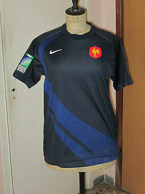 maillot shirt jersey EQUIPE DE FRANCE RUGBY WORLD CUP 2007 IRB COUPE MONDE NIKE