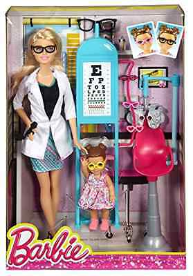 Barbie Careers Eye Doctor Playset Character Collectible Medical Pretend Play Toy