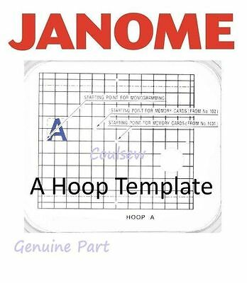 JANOME TEMPLATE Embroidery Hoop A 126mm x 110mm  MC10000 10001 9700 350E 300 etc
