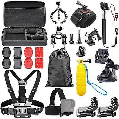 28 in 1 Pole Head Chest Mount Strap GoPro Hero5 Black Camera Accessories Kit