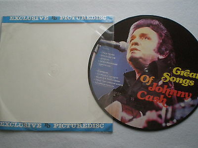 JOHNNY CASH Great Songs DENMARK PICTURE DISC LP 1983