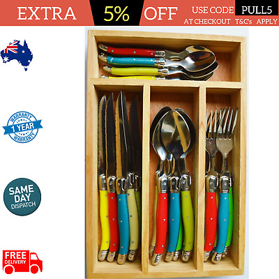 Laguiole 24 Piece inspired premier elite Jean dubost Louis thiers  cutlery set