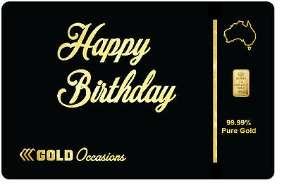 Gift Card - Pamp Minted Gold Bullion Bar Ingot Nugget Birthday Congratulations