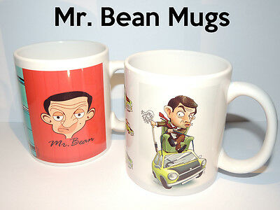 Mr Bean Mugs - Set of 2 - Gift Cup Present TV