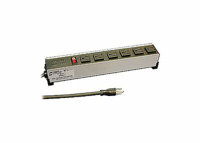 HAMMOND 1584H6A1 Power Distribution 6 Outlets 120V 15A 339.4, 53.98 mm, 1.83 m
