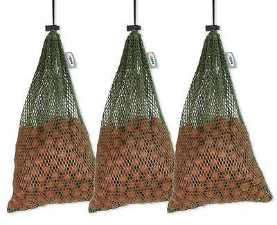 3 x Large 30 x 45cm Air Dry Boilie Sack Bags With 3kg Capacity For Carp Fishing
