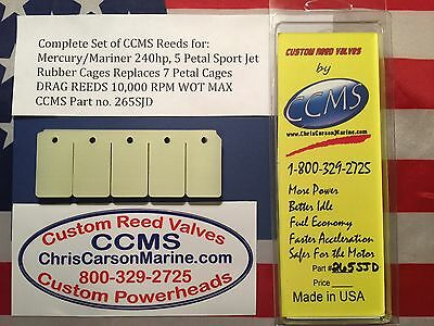 CCMS Mercury//Mariner 200EFI//Carb 225-250hp.6 Leaf Rubber Coated Cage  PN.266D