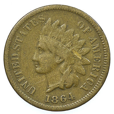United States, Indian Head Cent, Usa, Rare, 1864 L
