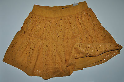 Next Cute Flower Skirt Girls Age 7 Yrs Height 122Cm Yellow Cotton Lined