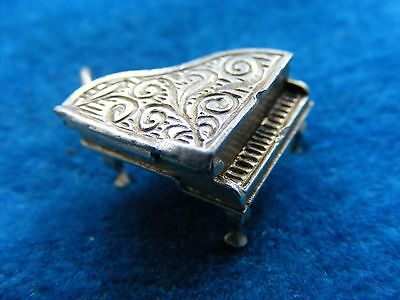 Vintage Sterling Silver Charm Piano Opens
