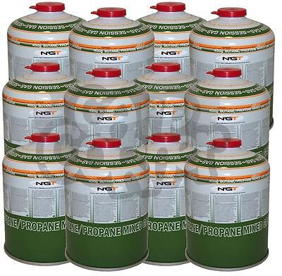 Bulk Lot Of 12 x Gas 450g Canisters Of Butane / Propane Gas For Camping Fishing