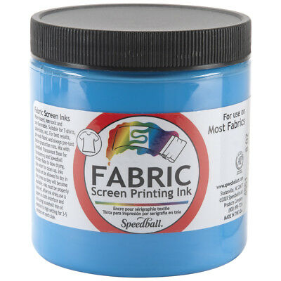 Speedball Fabric Screen Printing Ink 8oz Peacock Blue FSPI8-4551