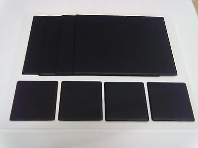Leather Look Pvc Table Mats & Coasters In Sets Of Six - Different Colours