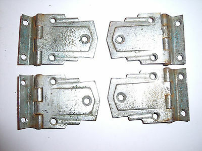 "4 x Art Deco recessed hinges Original Chromed steel. 1.5"" x 1.75"" old vintage OH"