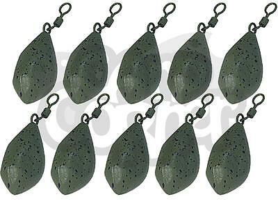 10 x Carp Fishing Leads 1.5oz 2oz 2.5oz 3oz 3.5oz Tri Bomb Style Ledger Weights