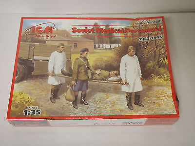Soviet Medical Personnel 1943-1945 Wwii 1/35 Icm 35551