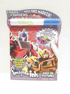 NEW Transformers Imagine Ink MAGIC Ink Pictures Art Activity MESS FREE MARKER