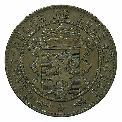 Luxembourg, 10 Centimes, Xf, 1870