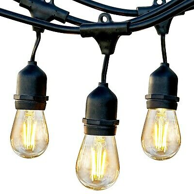 Brightech Ambience Pro LED Outdoor Weatherproof Commercial Grade String Lights,
