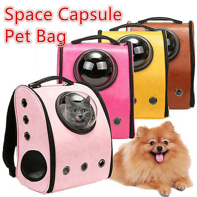 Dog Cat Astronaut Capsule Backpack Transparent Breathable Carrier Travel Bag H
