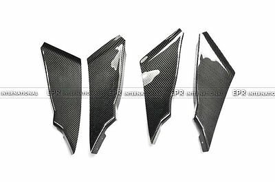 For NISSAN 350Z Z33 Front Bumper Lip Spilter Carbon Fiber CF Canards (4pcs)