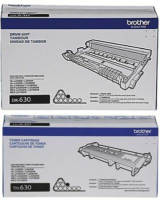8 Virgin Genuine EMPTY & USED Brother TN630 TN660 DR630 Toner Cartridges & Drums