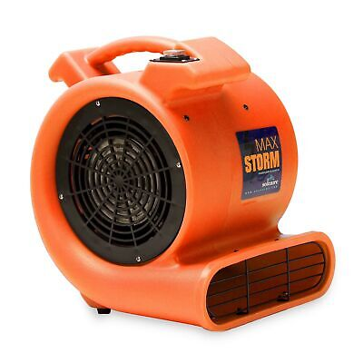 Max Storm Orange 2550 CFM Durable Lightweight Carpet Drying Fan Blower Air Mover