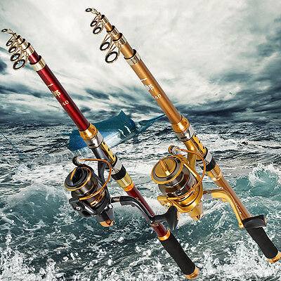 Carbon Travel Fishing Pole Light Hard Fishing Rod and Spinning Reel Fishing Kits