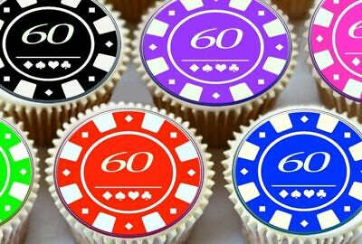 Casino Poker Chip Set ~ Frosting Sheet Cake Topper ~ Edible ~ D7347