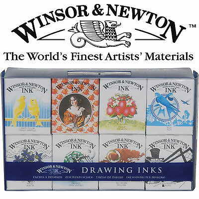 Wnsor & Newton Drawing Ink Henry Collection Set 8 x 14mls