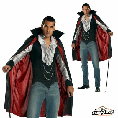 Mens Very Cool Vampire Dracula Gothic Halloween Fancy Dress Costume