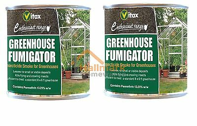 2 x Vitax Greenhouse Fumigator 3.5g Insecticide Smoke For Greenhouses