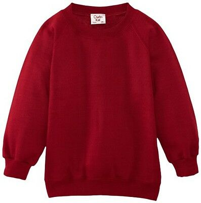 (TG. C34 IN- UK) Charles Kirk Coolflow - Felpa, colletto tondo, , unisex, Rosso