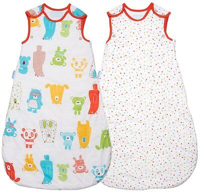 Grobag baby sleeping bag Spotty Bear TWIN pack 0 - 6 6- 18 18- 36 mth 1.0 tog
