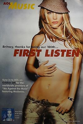 Britney Spears 20x30 AOL Music Promo Poster