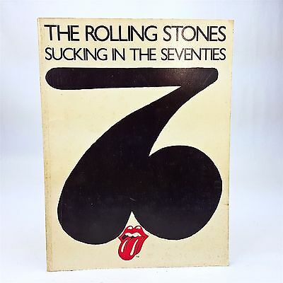 Rolling Stones Sucking in th Seventies Piano Vocal Guitar Music Song Book 1981
