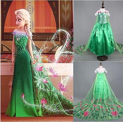 Fancy dress costume princess Elsa girl Anna frozen Christmas party for children