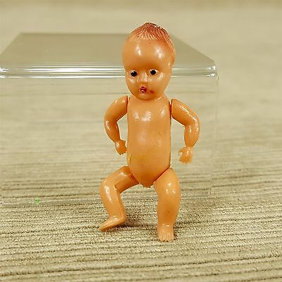 "Vintage 2"" Baby Doll Mini Plastic Arms Legs Wiggle Hong Kong"