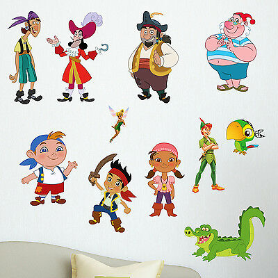 Jake and the Neverland Pirates Kids Boy Girls Bedroom Vinyl Decal Sticker Gift