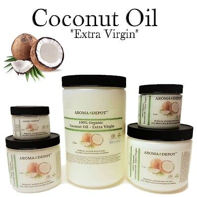 Raw Coconut Oil Extra Virgin Unrefined Organic Pure For Hair 2oz  4 8 16 32 3 Lb