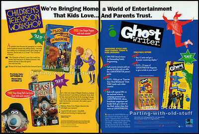 CHILDREN'S TELEVISION WORKSHOP__Original 1993 Trade Print AD promo__GHOSTWRITER