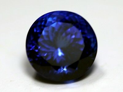 Quality NATURAL 14.98ct  Loose portuguese  cut TANZANITE    Violet Blue AAA+++