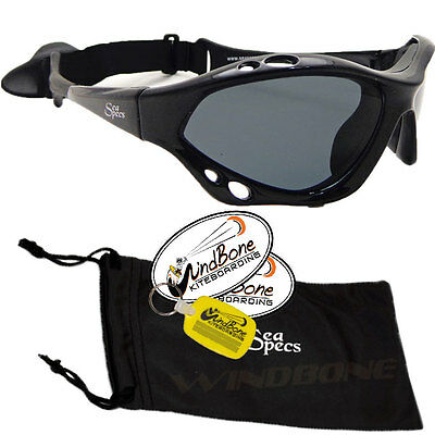 SeaSpecs Classic Jet Specs Black Water Sport Polarized Kitesurfing Sunglasses