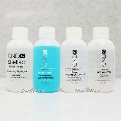 Cnd Essential 2oz - Choose ScrubFresh, Pure Alcohol, Nourishing Remover, Acetone