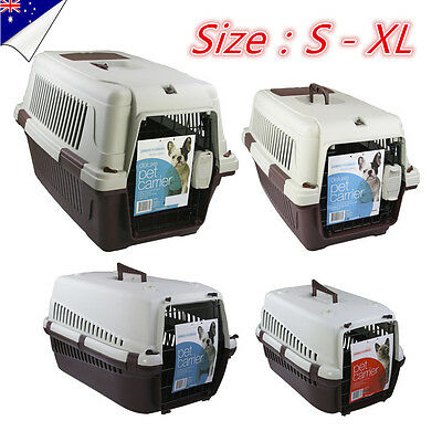 Pet Cat Dog Carrier Crate Transporter Portable Travel Cage House Kennel Airline